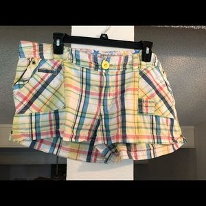 Colorful plaid shorts